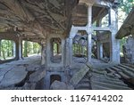 Small photo of Military barracks ruins from the World War II at Westerplatte in Gdansk, Poland.