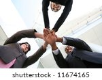 a diverse business team with... | Shutterstock . vector #11674165