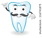 illustration of a tooth on a... | Shutterstock . vector #116741875