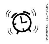 alarm  bell icon vector template | Shutterstock .eps vector #1167419392