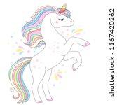 unicorn vector cute character.... | Shutterstock .eps vector #1167420262