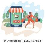 vector cartoon illustration of... | Shutterstock .eps vector #1167427585