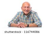 portrait of a happy senior man... | Shutterstock . vector #116744086