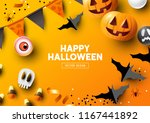 halloween holiday party... | Shutterstock .eps vector #1167441892