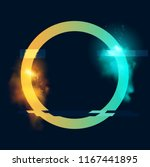 an illuminated circle loop with ... | Shutterstock .eps vector #1167441895