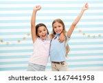happy childhood. happy...   Shutterstock . vector #1167441958