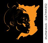 beautiful african woman.... | Shutterstock .eps vector #1167444352