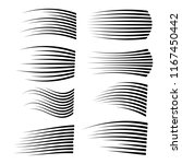 speed lines isolated set.... | Shutterstock .eps vector #1167450442
