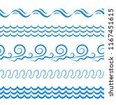 blue sea water waves vector... | Shutterstock .eps vector #1167451615