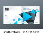 square brochure design. blue... | Shutterstock .eps vector #1167454345