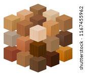 Wooden Cubes Forming A Big...