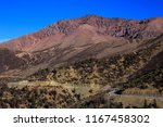 mountain pass on the road... | Shutterstock . vector #1167458302