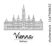 vienna sightseeing illustration.... | Shutterstock .eps vector #1167468652