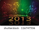 new year 2013 | Shutterstock .eps vector #116747536
