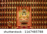 The statue of Godness in Chinese Buddha Tooth Relic Temple, Singapore.