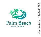 palm beach logo concept vektor | Shutterstock .eps vector #1167491602