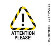 attention please. important... | Shutterstock .eps vector #1167492118