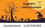happy halloween background... | Shutterstock .eps vector #1167496585