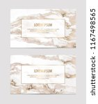 marble business cards with gold ... | Shutterstock .eps vector #1167498565