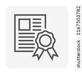 welding work certificate icon ... | Shutterstock .eps vector #1167503782