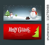 merry christmas  banner design... | Shutterstock .eps vector #116750488