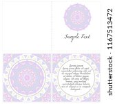 vintage cards with floral... | Shutterstock .eps vector #1167513472