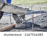 the shute of a cement truck... | Shutterstock . vector #1167516385