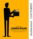 movie and film poster template... | Shutterstock .eps vector #1167518005