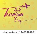 world tourism day cool cute... | Shutterstock .eps vector #1167518905