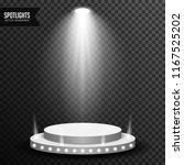 stage podium illuminated scene... | Shutterstock .eps vector #1167525202