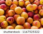 fresh yellow nectarine...   Shutterstock . vector #1167525322