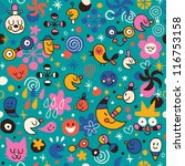 fun cartoon pattern | Shutterstock .eps vector #116753158
