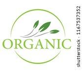 organic logo design | Shutterstock .eps vector #1167537352
