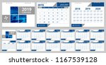 calendar 2019 week start sunday ... | Shutterstock .eps vector #1167539128