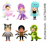 vector cartoon of cute kids in... | Shutterstock .eps vector #1167562498