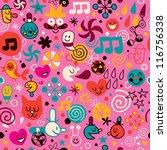 fun cartoon pattern | Shutterstock . vector #116756338