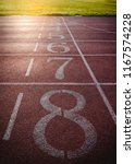 numbers on running track with... | Shutterstock . vector #1167574228