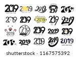 big set of 2019 text design... | Shutterstock .eps vector #1167575392