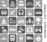 Transports' icons - stock vector