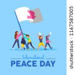 world peace day greeting card... | Shutterstock .eps vector #1167587005