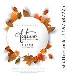 autumn sale background  hand...   Shutterstock .eps vector #1167587275