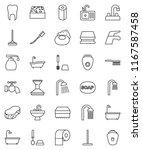 thin line vector icon set  ... | Shutterstock .eps vector #1167587458