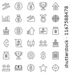 thin line vector icon set  ...   Shutterstock .eps vector #1167588478
