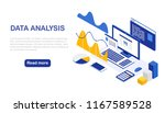 big data. digital analysis.... | Shutterstock .eps vector #1167589528