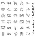 thin line vector icon set  ... | Shutterstock .eps vector #1167590518
