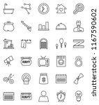 thin line vector icon set  ... | Shutterstock .eps vector #1167590602