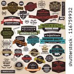 set of vintage retro labels ... | Shutterstock .eps vector #116759932