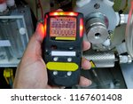 personal h2s gas detector check ... | Shutterstock . vector #1167601408