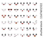cute emotion face in various... | Shutterstock .eps vector #1167601522