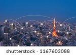 big data communication  network ... | Shutterstock . vector #1167603088